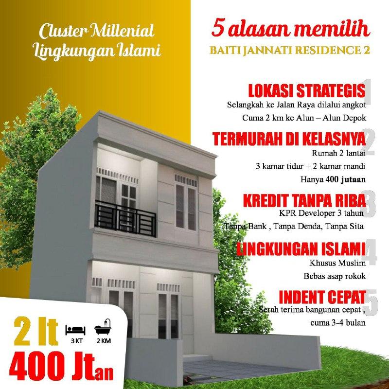 Baiti Jannati Residence 2 Rumah Cluster Murah Depok